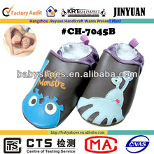 Designed leather kids shoes cartoon picture