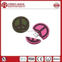 FR-SY172 customized promotion pvc rubber cheap USB