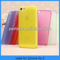 For iphone 5 5s Clear Ultra Thin Jelly Matte transparent Hard Case for iPhone 5s (PT-I5C208)