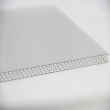 Polycarbonate Transparent Roofing Sheet Honeycomb Structure High Impact Strength UV Coating Warehouse Price 8mm Thickness