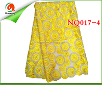 guangzhou african lace embroidery fabric net lace for party, 2015 high quality tull lace NQ017-4
