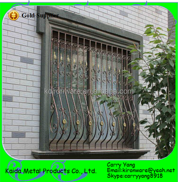 Modern French Wrought Iron Window Grill Design, View