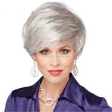 Imports rose net Chemical fiber high temperature wire Blond woman in Europe and the short hair curly wig