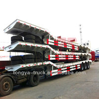 Transport heavy machinery low bed semi trailer dimensions