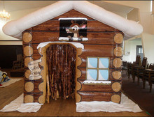 customize cheapest inflatable santa house with LED light