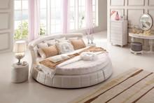 Modern European Elegant Noble Style King Size Round Bed Price