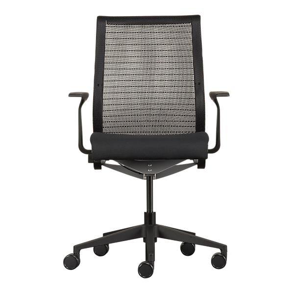 steelcase pensez chaise de bureau avec noir coussin chaise de bureau id du produit 113136439. Black Bedroom Furniture Sets. Home Design Ideas