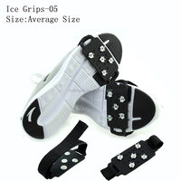 Universal Anti slip Snow Shoe and Cleats Spikes Studded Grippers Ice Shoe Grips