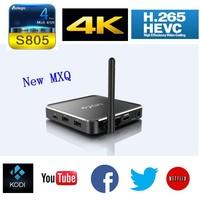 MXQ M12 Android 4.4 Amlogic S805 Quad Core Smart TV box, Aluminum housing 1G/8G OTG H.265/HEVC 1080P XBMC Media Player