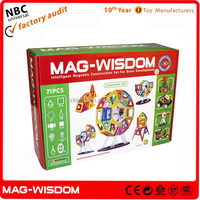 New Plastic Mag Wisdom Super 3D Magnetic Puzzle Toys 71PCS Set