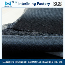 eco-friendly nylon polyester compression garment double dot nonwoven fabric tearable interlining for shirt