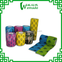 "2"" *5yds Printed non-woven self-adhesive elastic bandage products & Latex free,hand tear,tubular bandage"