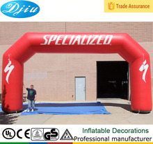 DJ-GM-40 2015 hot red event inflatable arch for various events advertising red inflatable archway