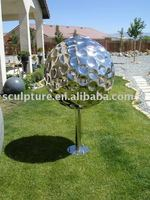 decorative large stainless steel flower balls