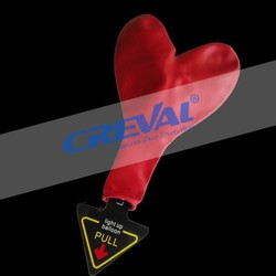 flying red heart shaped led balloon lights