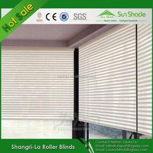 Home Decoration Zebra Linen sheer shadings in white color