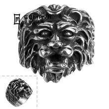 Wholesale Vinatge Cooled Arab Lion Head Antique Animal Ring Men for Party