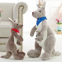 HI CE high quality plush animal sex toys,kangaroo plush toy for wholesale