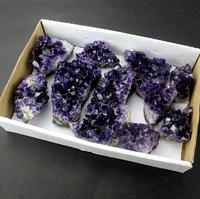 Wholesale Grape Raw Amethyst geode,natural quartz crystal Amethyst Geode Cluster