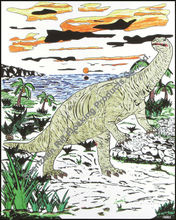 """Rili 16""""* 20"""" dinosauro colore in velluto foto"""
