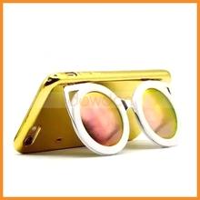 3D Colorful Shiny Sunglasses Mirror Case For Apple iPhone 6 6S, Mirror Sunglasses Shell For iPhone 6 Plus 6S Plus