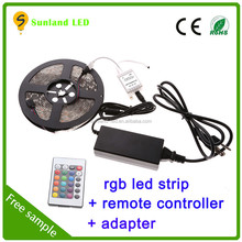 CE RohS 60 leds/m rgb led strip SMD5050 rgb dream color 6803 ic led strip light with remote controller and power supply