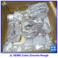 White uncut Cubic Zirconia rough gemstones prices