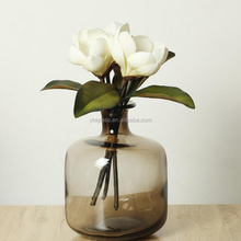 Wholesale brown flower glass bottle vase