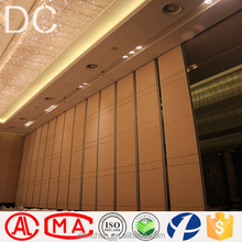 hotel folding partition wall sliding folding movable partition wall for art gallery