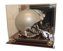 Acrylic Helmet Display Case Mahogany New England Patriots