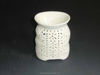 Stainless ceramic white votive candle warmer