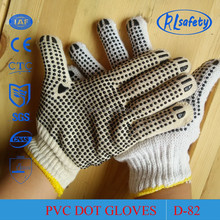 RL Safety PVC dots on double sides gloves to improve grip and increase abrasion resistance gloves