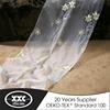 XXC household flowers sheer modern design window curtain model