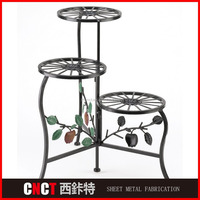 Customized Bending Iron Flower Pot Stand