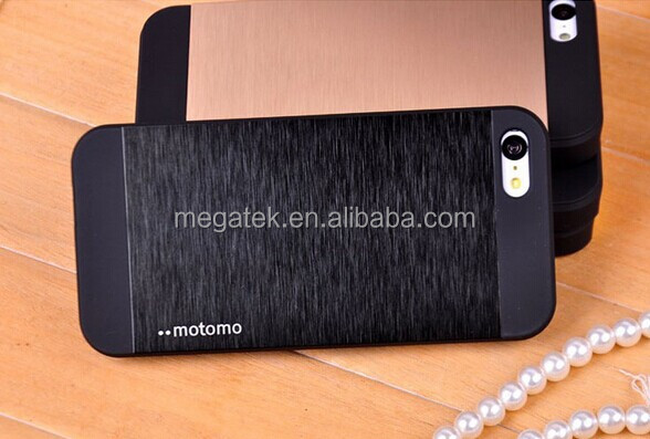Motomo PC+Aluminum mobile phone case for iphone 5 5s , for iphone 5 case, for iphone 5s case