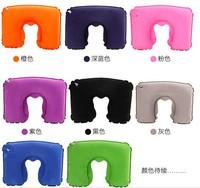 Travel Sambo U-shaped Pillow Flocking Inflatable Suit Eyeshade Advertising Gifts Custom LOGO Neck Support Cushions