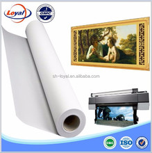 High definition printing effect -Waterproof polyester canvas for inkjet printing