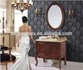 Hot novo produto de madeira modelos de móveis de hotel vaidade do banheiro