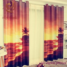 custom blackout 3D digital printing curtain 3D photo curtain 3D window curtains