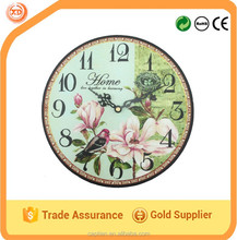 Antique natural dail wood clock for wall decoration MDF