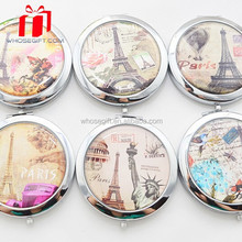 Butterfly Paris Cute Make Up Small Mirror With Paper Design