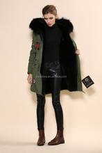 long faux fur coats women big fur hood beading parka furs coat