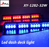 Hot sale 32W storbe led visor light/Emergency flashing led lights/ led dash deck light with 4 suction cups