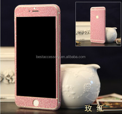 Cheap price phone accessories supplier, for iphone full body bling stickers, for iphone 6 glitter stickers