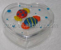Heart shape high transparent acrylic gift box from china