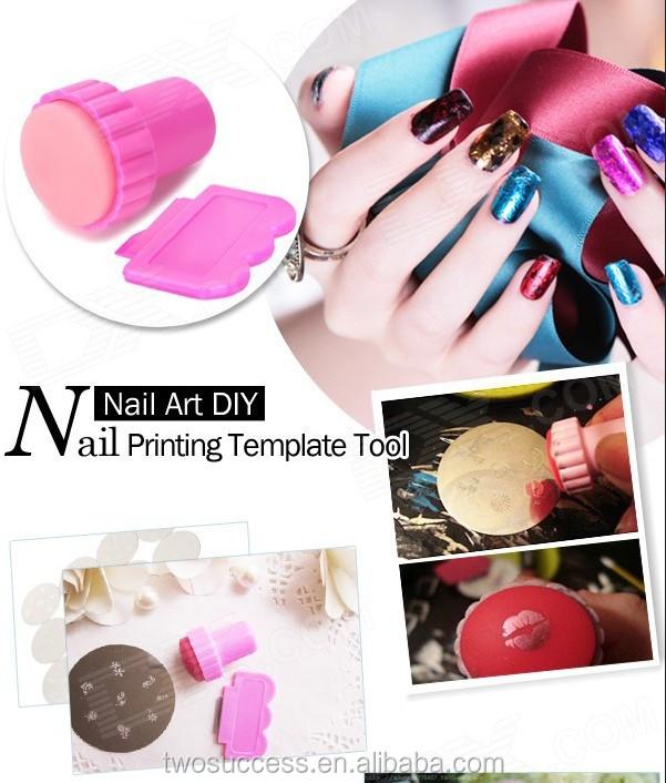 Wholesale cheap nail art stamper and scraper with nail scraper kits