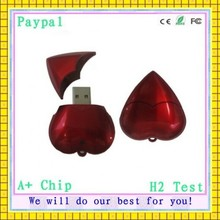 wholesale price paypal accept custom logo heart usb flash memory