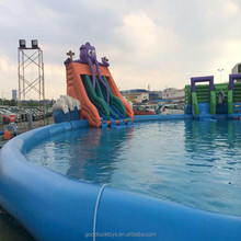 competitive factory price large swimming pool/ adult size inflatable pool for Children and Adult fishing line and rope