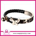venta caliente brazalete de mariposa trenzado de cuero joyas de marruecos