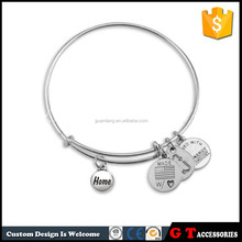 2015 promotion friendship alex and ani stainless steel bangle for wholesale